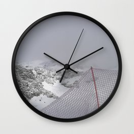 Snow is whiter on the other side Wall Clock