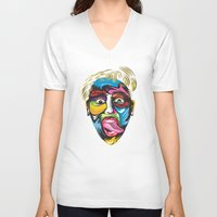 miley V-neck T-shirts featuring miley by Sneaker Pie