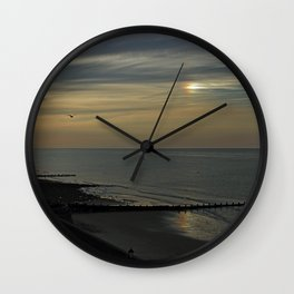 Cromer's setting sun and Sundog Wall Clock