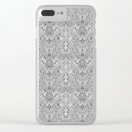"Abstraction . ""Reptile skin""2 Clear iPhone Case"