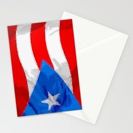 Puerto Rico Fancy Flag Stationery Cards