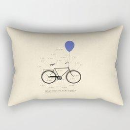Anatomy Of A Bicycle Rectangular Pillow