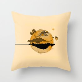 Eskisehir and Invisible World Throw Pillow