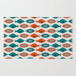 Ethnic pattern with fish Rug