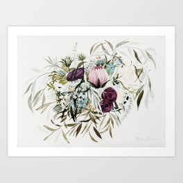 Rustic and Free Bouquet Art Print