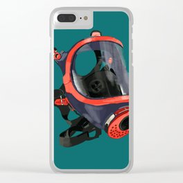 Industrial Mask Clear iPhone Case