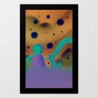 le petit prince Art Prints featuring Le Petit Prince by Gimena Gusteler