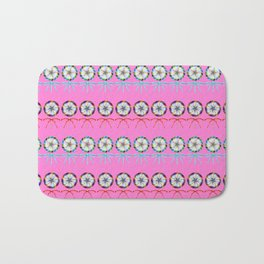 Girly lovely cute lollipop candy pattern. Rows of beautiful retro vintage lollipops with red ribbon Bath Mat