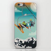 ski iPhone & iPod Skins featuring Ski Lift by Park City Posters