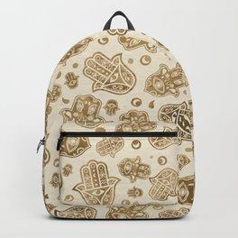 Hamsa Hand -Hand of Fatima pastel golds Backpack