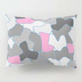 Stone Wall Drawing #2 Pink Pillow Sham