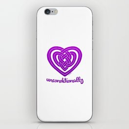 UNCONDITIONALLY in purple iPhone Skin