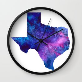 Texas galaxy Wall Clock