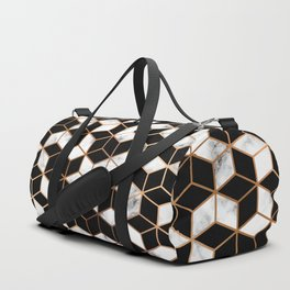 Gold and black cubes Duffle Bag