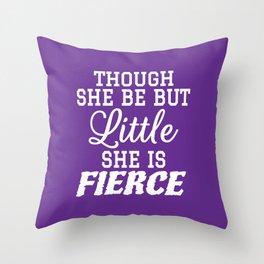 Little & Fierce (Purple) Throw Pillow
