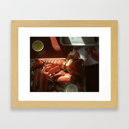 Still Life with Lobster Shells Framed Art Print