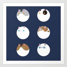 Poke a Dots in Cats Art Print