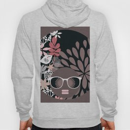 Afro Diva : Sophisticated Lady Pale Pink Peach Taupe Hoody