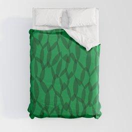 Overlapping Leaves - Dark Green Duvet Cover