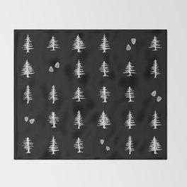 Midnight Pines Throw Blanket