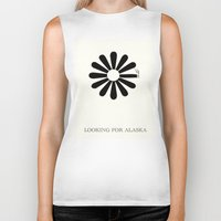 looking for alaska Biker Tanks featuring Looking for Alaska by green.lime