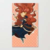 merida Canvas Prints featuring Merida by Schewy
