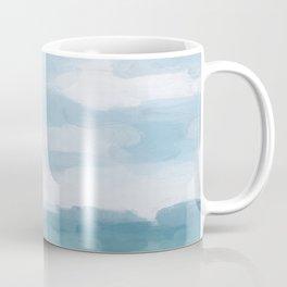 Mint Blue White Gray Abstract Wall Art Painting Coffee Mug