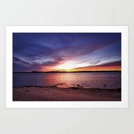 Cotile Sunset Art Print