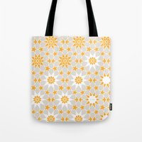 pivot Tote Bags featuring Pivot Star Pattern  by Pivot Interiors
