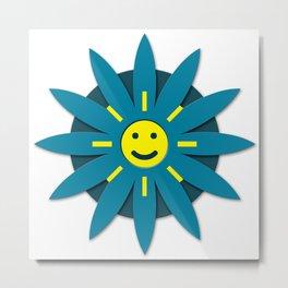 Smiley flower Metal Print