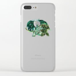 Cthulhu vs Godzilla Clear iPhone Case