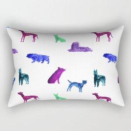 Dog Pattern Rectangular Pillow