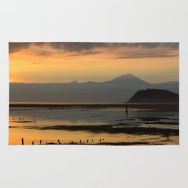 Mt. Rinkjani at Dusk Rug