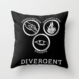 Divergent (White) Throw Pillow