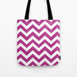 Fandango - violet color - Zigzag Chevron Pattern Tote Bag