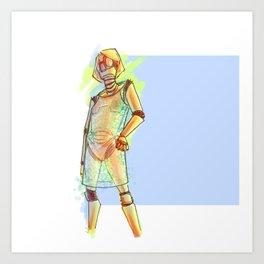 Elga - Robochique Art Print