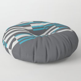 Rectangles Stripes grey background Floor Pillow