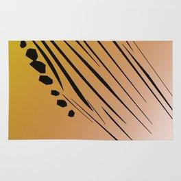 gold design exotic lines blocks Rug