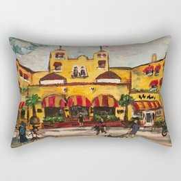 """Colony Hotel at Delray Beach"" Rectangular Pillow"