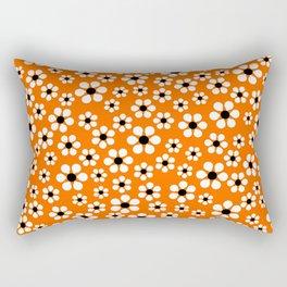 Dizzy Daisies - Orange Rectangular Pillow