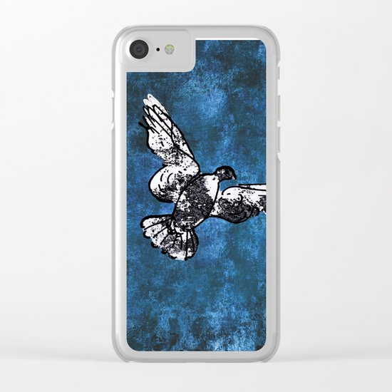 Hope is the thing with feathers on Clear iPhone Case