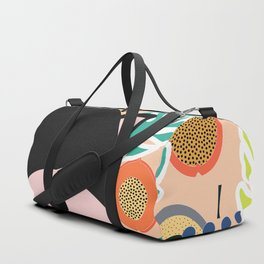 Fox, leaves and tropical fruits Duffle Bag