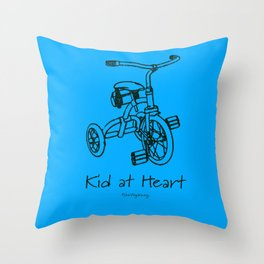 Kid at Heart Throw Pillow