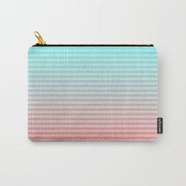 Beach Blanket - Aqua/Peach Carry-All Pouch