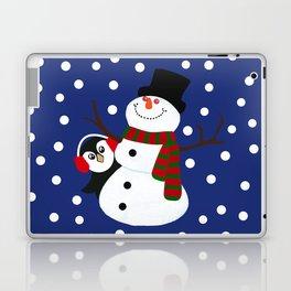 Cute Penguin Snowman Holiday Design Laptop & iPad Skin