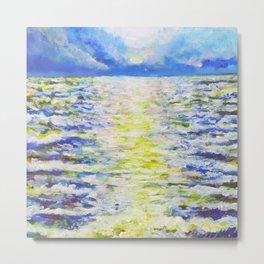 Glittering Sea Metal Print