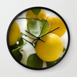 Branch of Lemons Wall Clock