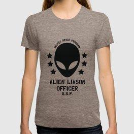 Top Secret Space Program Alien Liaison Officer cute funny tshirt gifts T-shirt