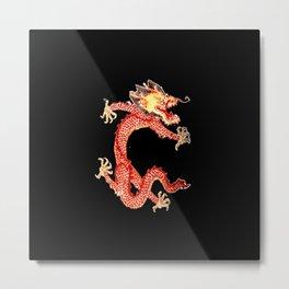 Chinese dragon II-fire,serpent,power,  strength,monster,yang,thunder,asia Metal Print