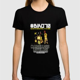 BIKO70 Black is Beautiful TV is Bad by Marcellous Lovelace T-shirt